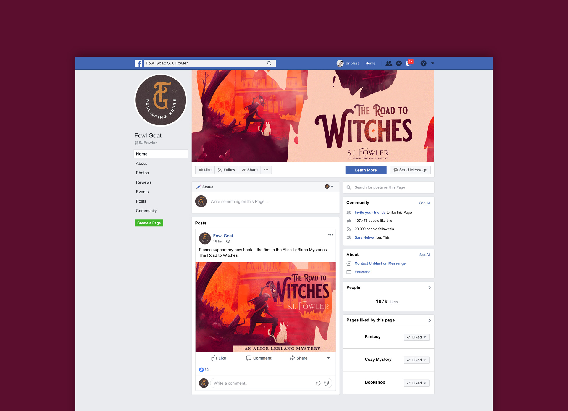 Road to Witches - Facebook